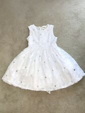 BEAUTIFUL Childrens Place White Formal Flower Sequin Dress Size 12 Girls