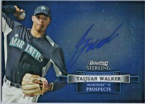 2012 Bowman Sterling TAIJUAN WALKER BLUE Auto!!! Mets ACE