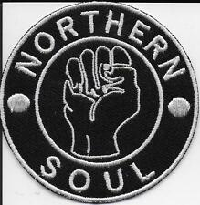 "NORTHERN SOUL ""FIST"" -  Embroidered Iron Sew On Patch Badge - HIGH QUALITY"