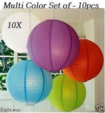 10PCs Pack Marriage Party Hanging Paper Lantern Christmas Decoration Light Lamp