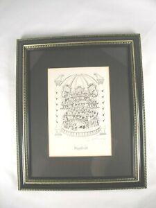 """Magnificat"" Black and White signed Jeff Gold Mini Cat Print"