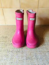 Girls Pink Infant Size 6 Uk Hunter Wellies