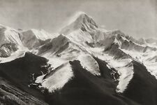 1934 Vintage 11x14 CHINA Mount Gongga Minya Konka Mountain Landscape Photo Art