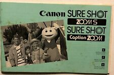 Canon Sure Shot Zoom S Caption Zoom Camera Instruction Manual 79 page guide Book