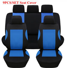 9x Universal Car Polyester Seat Cover 2xFront Seat+1xRear Seat+5xHeadrest Cover