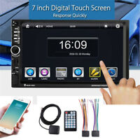 "7"" Double 2 DIN Car MP5 Player Bluetooth Stereo Radio FM USB SD GPS Navigation"