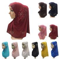 Women Flower Lace Hijab Al Amira Scarf Muslim Islamic Headscarf Head Wrap Cover