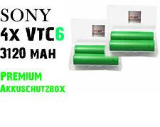 4x Sony VTC6 18650 Konion 3120 mAh 30A Dampf + Akkucase für eleaf istick pico
