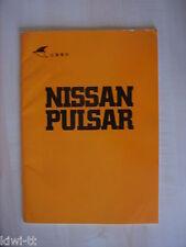 Nissan Pulsar (= Cherry, Baureihe N10), Presseprospekt (?) / Produktvorstellung