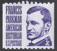SC#1297 - 3c Francis Parkman Coil Single Shiny Gum MNH