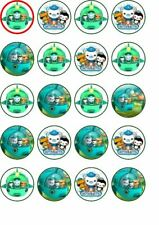 20 Octonauts  edible rice paper cup cake toppers,
