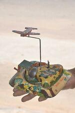 Vintage Wind Up Litho MINI Train & Flying Airplane MOT Mark Tin Toy