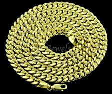14k Solid Yellow Gold Hollow Miami Curb link chain necklace 17.80gr 22inch #5413