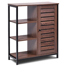 Industrial Bathroom Storage Cabinet Free Standing Cabinet W/3 Shelves