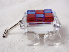 Swarovski Crystal Figurine Toy Wagon Blocks 2002 Retired My First Years Box