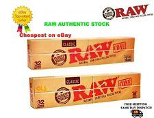 Raw Classic Kingsize - 1 1/4 Cones - Box of 32 Cones - Premium Genuine RAW CONES