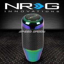 NRG RACING MANUAL 5/6-SPEED MT STICK SHIFT KNOB/ROD REAL CARBON FIBER/NEO CHROME