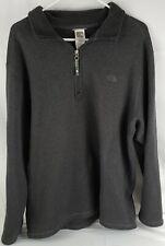 The North Face men's quarter zip fleece Pullover size XL Dark gray