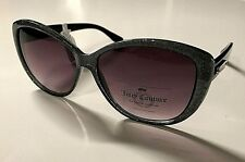 New Juicy Couture Cat Eye Girls' Women's Sunglasses Black/Glitter Gray Free Ship