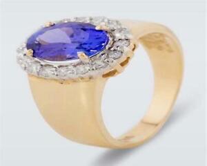 Harry Ivens IV Ring Gelbgold 585 Tansanit AAAA und Brillanten