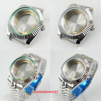 Stainless Steel 40mm Watch Case with Mineral Glass Fit ETA 2836 MIYOTA Movement