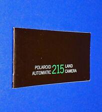 VTG 1970 Polaroid Instant Land Pack Camera Auto 215 Instruction Manual Booklet