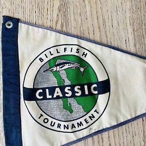 Vintage Billfish Tournament Boat Flag Mexico Sport Fishing Nautical