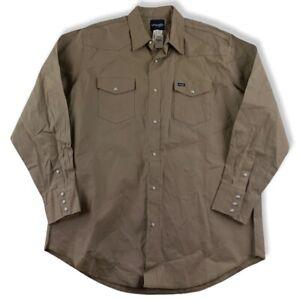 Wrangler Hemd Gr. 2XT ca. XXXL Baumwolle Western Jeans Shirt Beige Weiß JH5