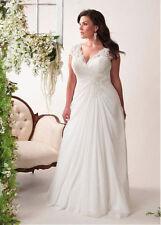 New White/Ivory Wedding Dress Bridal Gown Stock Plus Size 14-16-18-20-22-24-26