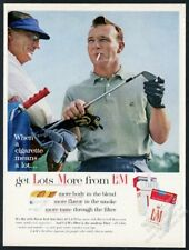 1963 Arnold Palmer photo on golf course L&M cigarettes vintage print ad