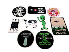 9 Piece Assorted Alien Space UFO Humor Theme Embroidered Iron-On Applique Patch