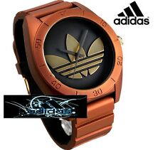 "ADIDAS SANTIAGO MEN""S ORANGE METALLIC COLOR  WATCH ADH9078"