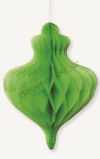 Green ORNAMENT Paper Honeycomb Hanging Decorat Birthday Easter St Patricks Party