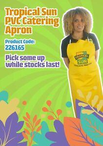Tropical Sun Apron Waterproof Oil Proof PVC Kitchen Cook Garden Butcher BBQ