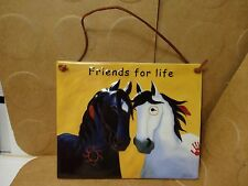 """Friends For Life Wall Hanging Tile, 7"""" X 5 7/8"""", Designed By Webb (Used/EUC)"""
