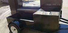 Triple Sink Setup BBQ Smoker 48 Grill Trailer Catering Food Cart Truck Business