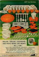 1969 ADVERTISEMENT Toy Teflon Cookware Patio Sweeper Suzy Homemaker Plastic