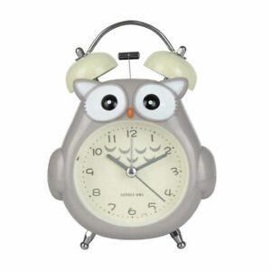 Student Wake Up Alarm Clock Cute Cartoon Owl Night Light for Kids Bedroom