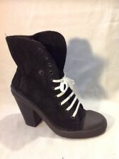 Top Shop Black Ankle Leather Boots Size 6