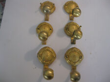 6 Vintage Brass Bathroom Towel Bar Holders