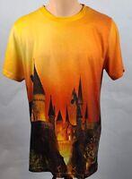 The Wizarding World Of Harry Potter Mens Graphic T-Shirt Orange Short Sleeve XL