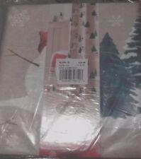 st. nicholas square Christmas Merry Mistletoe Toss Shower Curtain Fabric