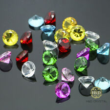 24PCS Colorful Crystal Diamond Shape Paperweight Wedding Favor Decor Gift 20mm