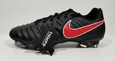 Nike Tiempo Ligera IV FG Soccer Cleats Black Womens Size 7.5 Mens Size 6