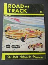 Vintage Road & Track Magazine June 1951