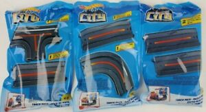New Hot Wheels City track lot of 3 packs