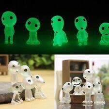 Cute 5Pcs Figures Princess Mononoke Forest Spirit Elf Glow In Dark Collect Decor