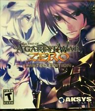 Record of Agarest War Zero Limited Edition PlayStation 3 PS3 New in Box Sealed