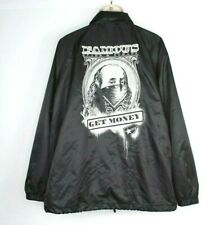 Famous Stars & Straps Get Money Windbreaker Jacket Black Mens 3XL