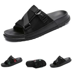 Men Walking Sports Slip on Flats Breathable Casual Summer Beach Slippers Shoes B